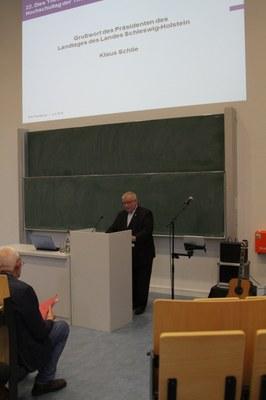 Landtagspräsident Schlie