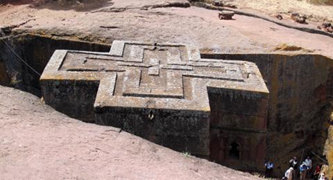 Felsenkirche aus Äthiopien