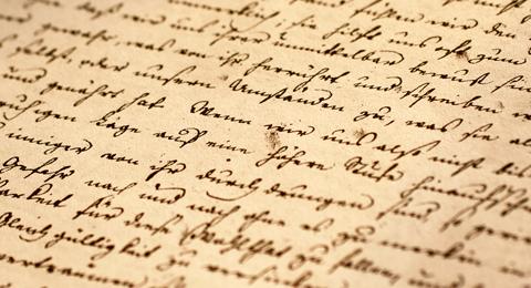 Manuskript von Daniel Friedrich Schleiermacher